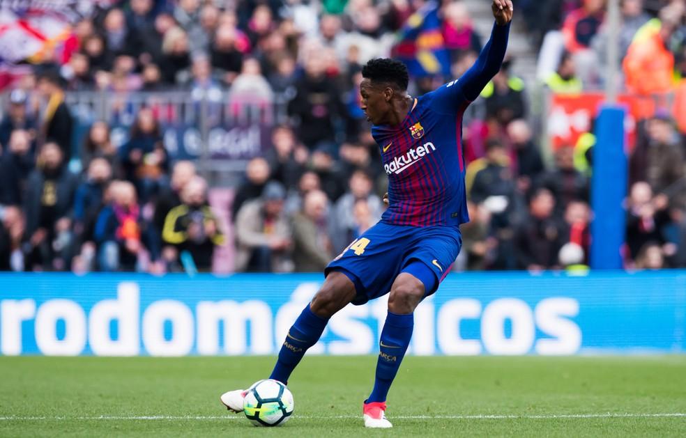 dd617c928b397 ... Mina teve poucas oportunidades com a camisa do Barcelona — Foto  Getty  Images