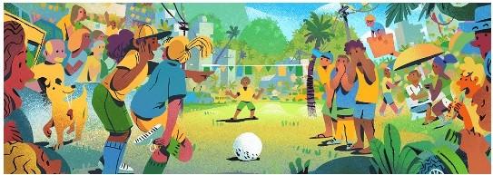 Doodle Brasil Copa Russia 2018 (Foto: Reprodução/Google)