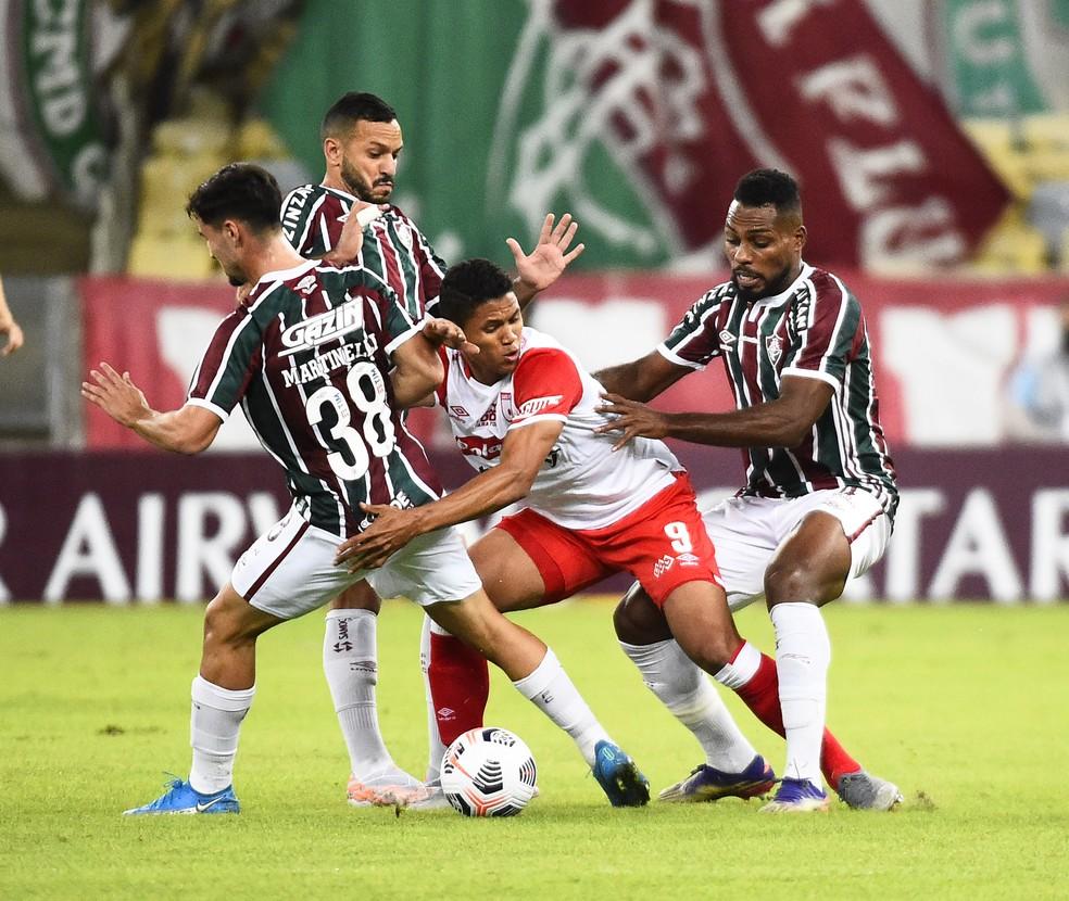 Luccas Claro - Fluminense x Santa Fe - Libertadores 2021 - Maracanã — Foto: André Durão