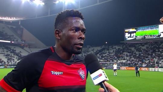 Kanu ressalta que empate com o Corinthians foi importante para o Vitória