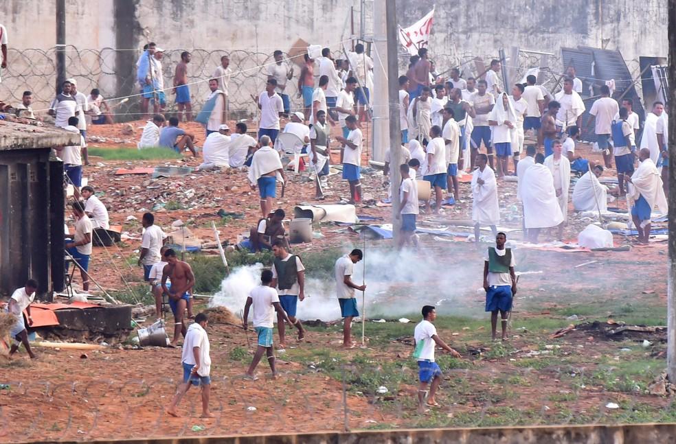 Penitenciária de Alcaçuz, maior presídio do estado, foi palco de rebelião e matança em Janeiro (Foto: Josemar Gonçalves/Reuters)