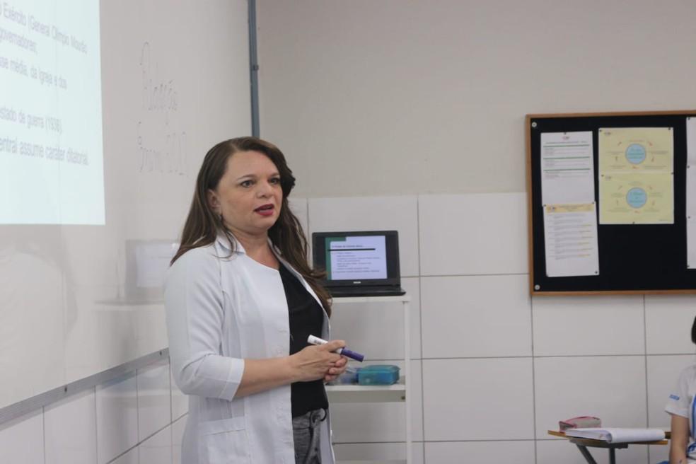 Professora Patrícia Lima — Foto: Andrê Nascimento/ G1 PI