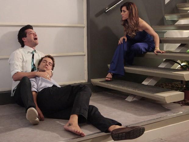 Cena da morte de Fred (Carlos Vieira) (Foto: TV Globo)