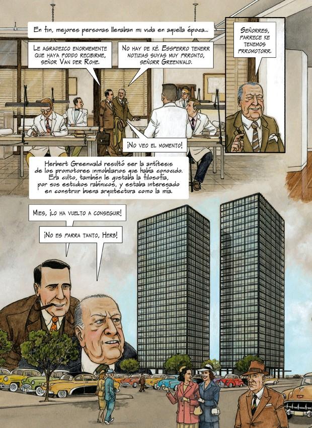 Vida do arquiteto Mies van der Rohe é retratada em história em quadrinhos (Foto: Divulgação)