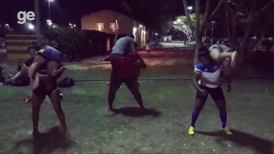 Vídeo: times de rúgbi encaram desafio na web; Delta conclui após 2 dias de treino