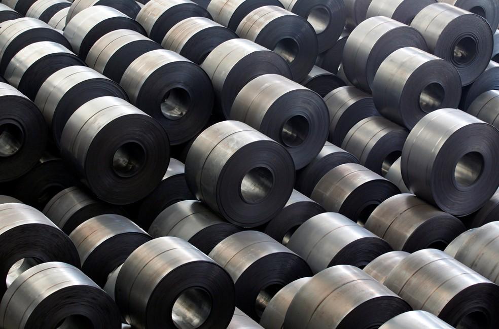 Estoque da aço da Hyndai Steel na Coreia do Sul (Foto:  REUTERS/Lee Jae-Won/File Photo)