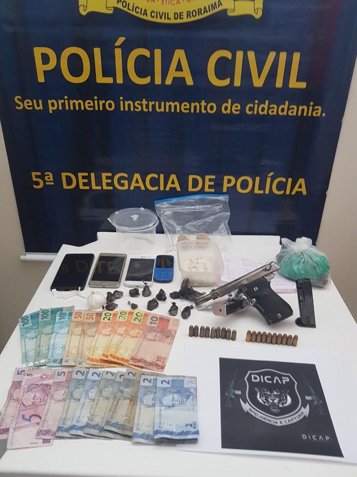 Trio é preso por tráfico drogas em Boa Vista; casal vendia entorpecentes para facção criminosa