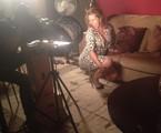 Andréia Faria, a Sorvetão, gravando 'Pé na cova' | Arquivo pessoal