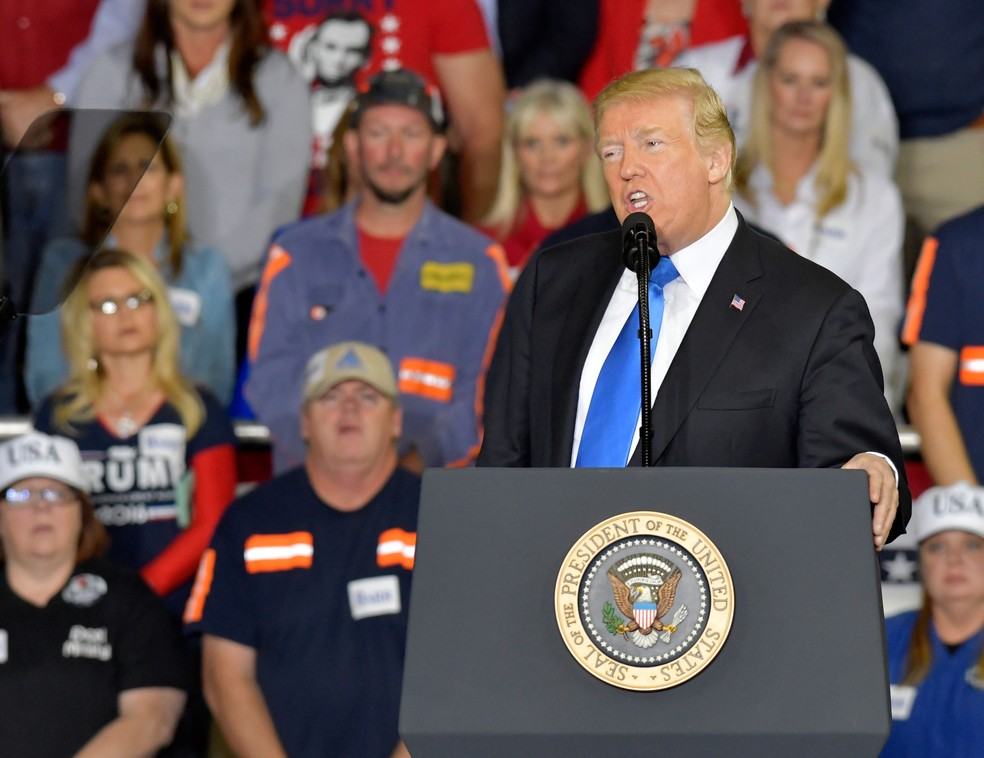 Presidente Americano, Donald Trump, em imagem de arquivo — Foto: Timothy D. Easley/AP