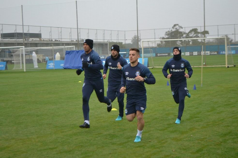 Grêmio treina no CT Luiz Carvalho (Foto: Tomás Hammes/GloboEsporte.com)