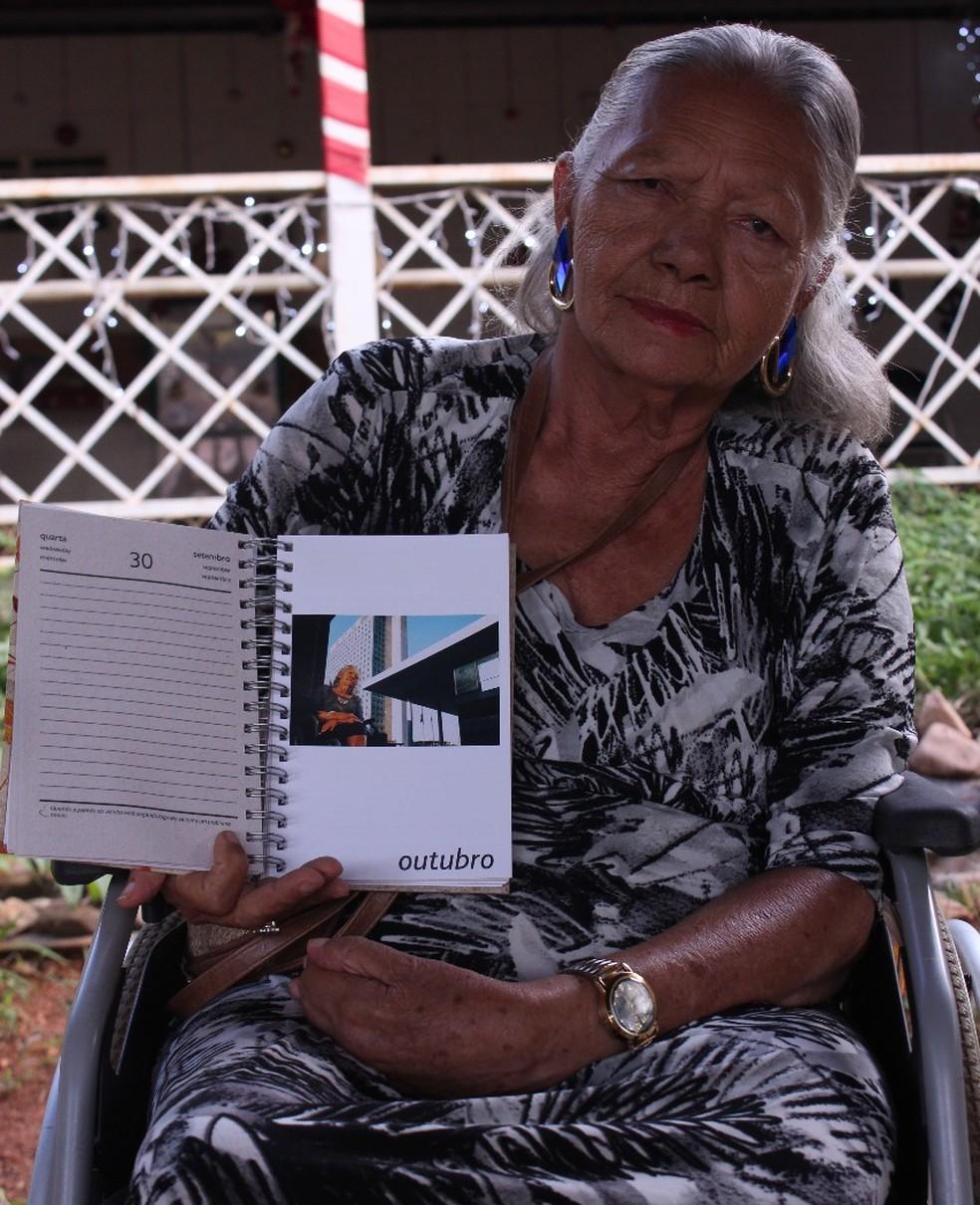 Lar dos Velhinhos Bezerra de Menezes produz agenda com história dos moradores — Foto: Divulgação
