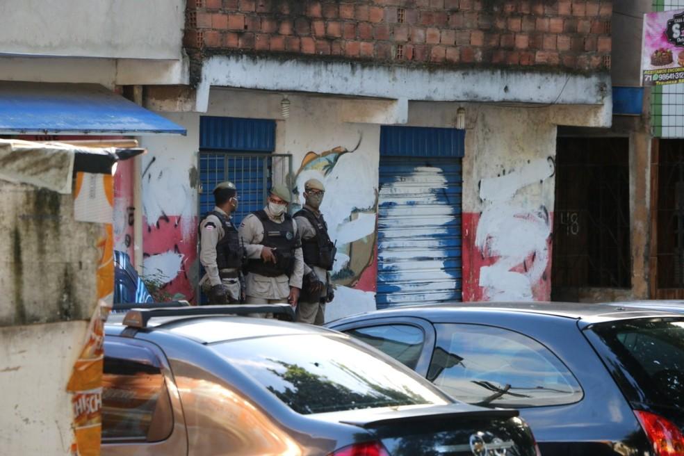 A partir desta quarta, os três bairros tiveram atuações de unidades especializadas da polícia — Foto: Polícia Militar