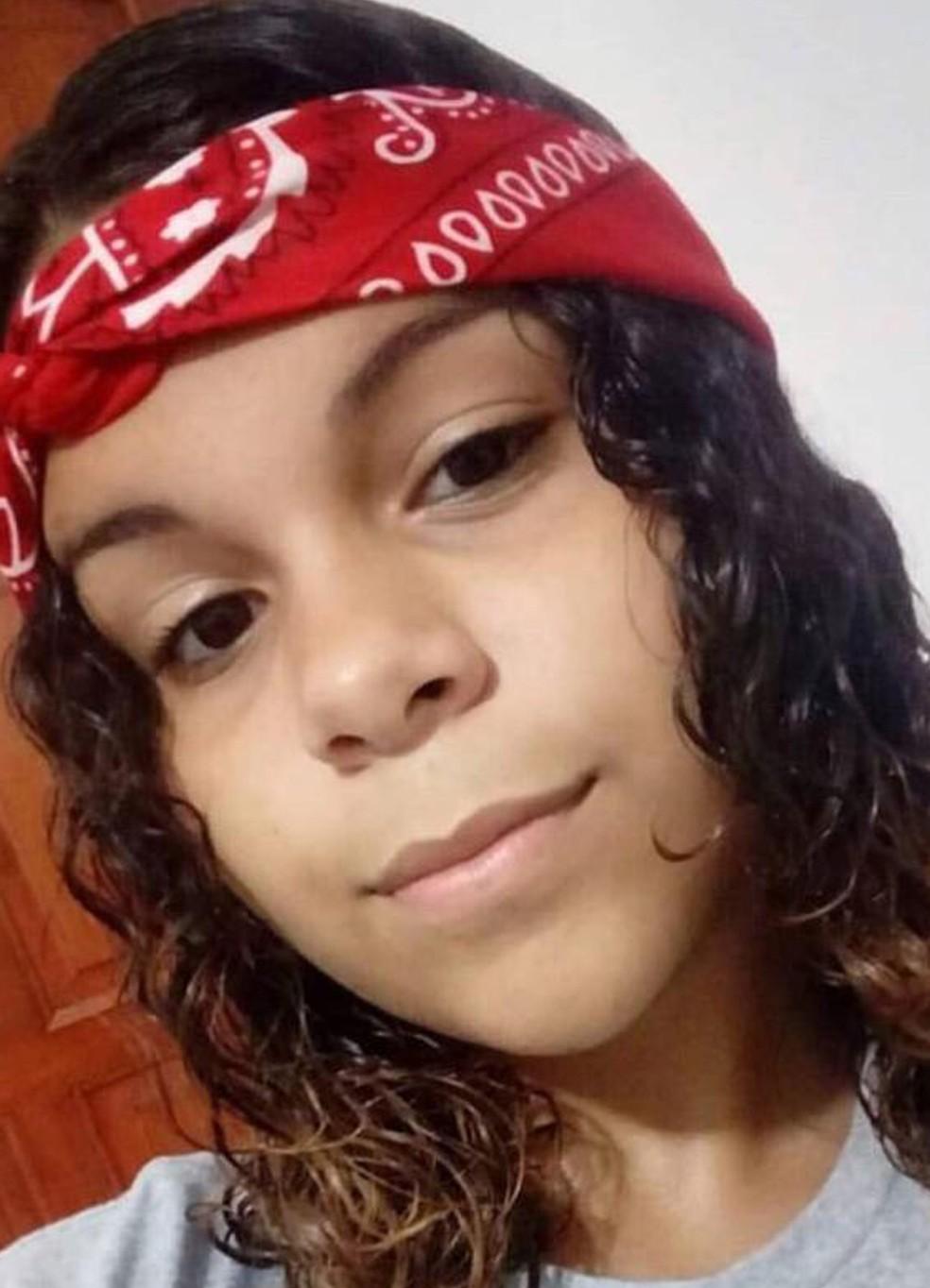 Evelin desapareceu na segunda-feira (18) após sair de casa, em Jaboatão dos Guararapes, no Grande Recife — Foto: Reprodução/WhatsApp