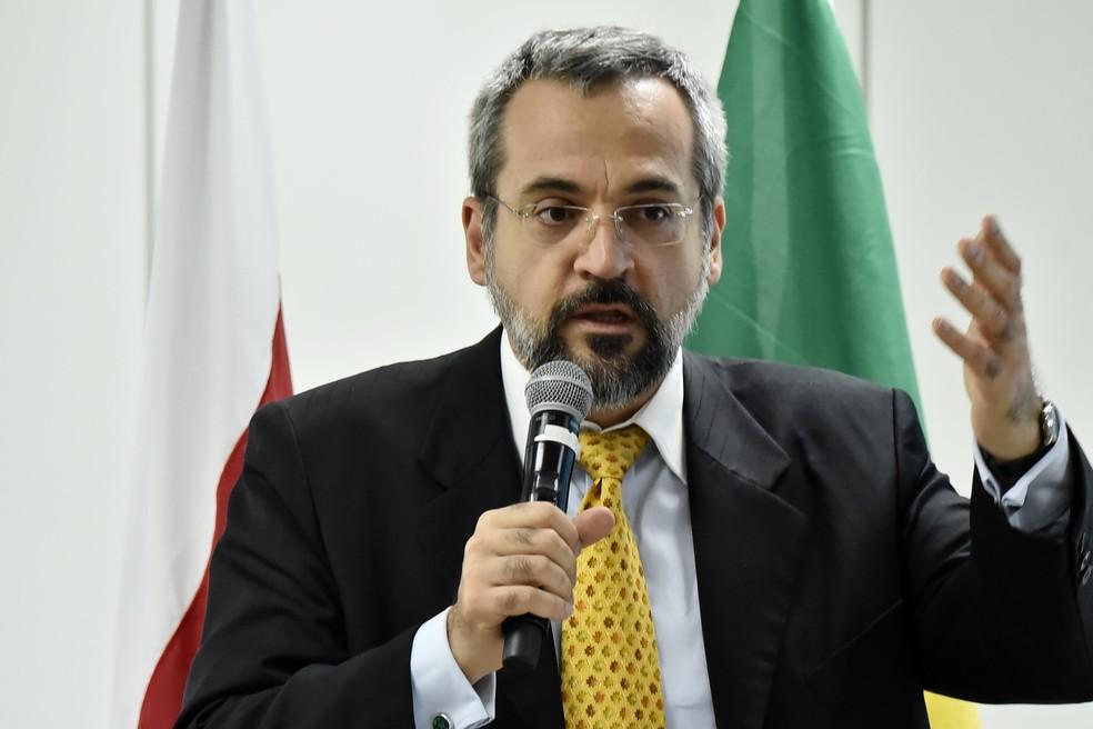 O novo ministro da Educação, Abraham Weintraub, durante evento do governo de transição, em dezembro de 2018 — Foto: Casa Civil