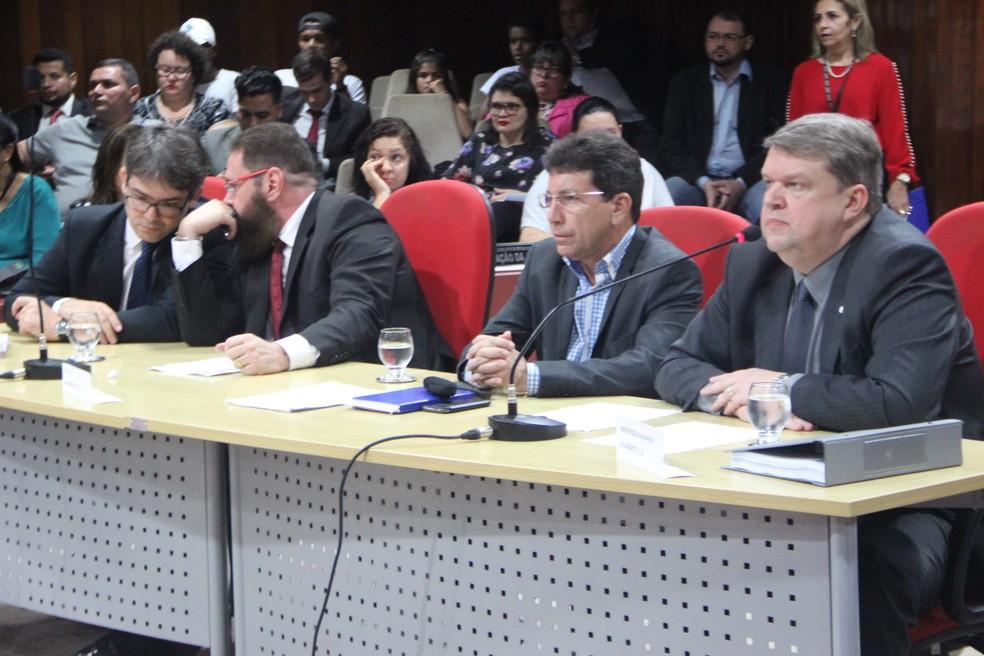 Diretores nacionais da Hydro Alunorte, instalada em Barcarena no Pará. (Foto: Reprodução / Alepa)