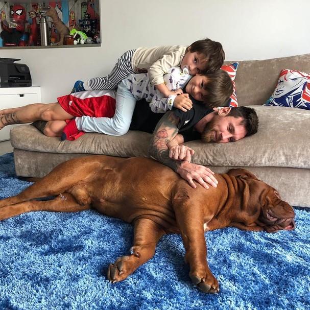 Messi e filhos (Foto: Reprodução/Instagram)