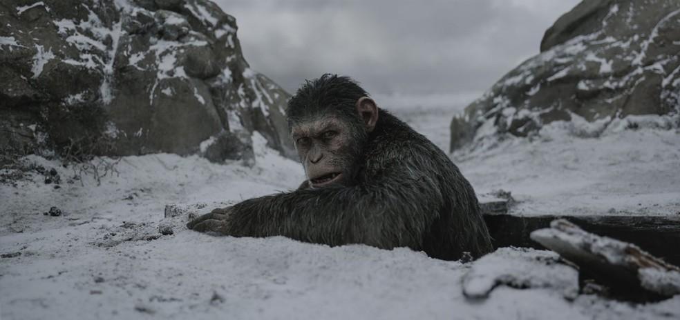 Andy Serkis em 'Planeta dos macacos: A guerra' (Foto: Divulgação )
