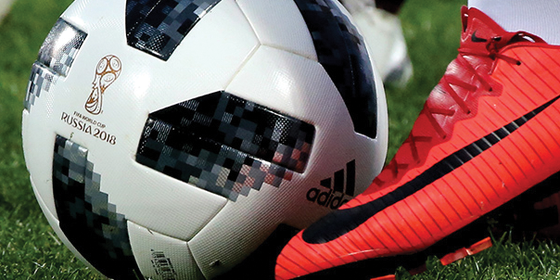 TELSTAR, a bola oficial da Copa do Mundo 2018, na Rússia (Foto: ALEXANDER DEMIANCHUK/GETTYIMAGES)