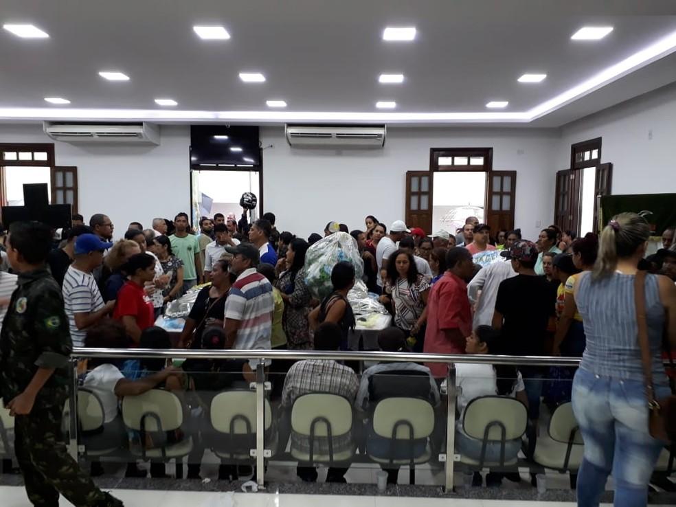 Corpos foram velados na Câmara de Vereadores de Euclides da Cunha — Foto: Divulgação/Prefeitura