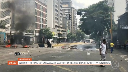 Milhares de pessoas saem às ruas contra os apagões consecutivos na Venezuela