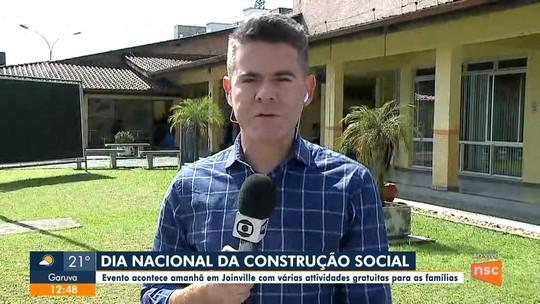 Dia nacional da Construção Social oferece serviços para população em Joinville
