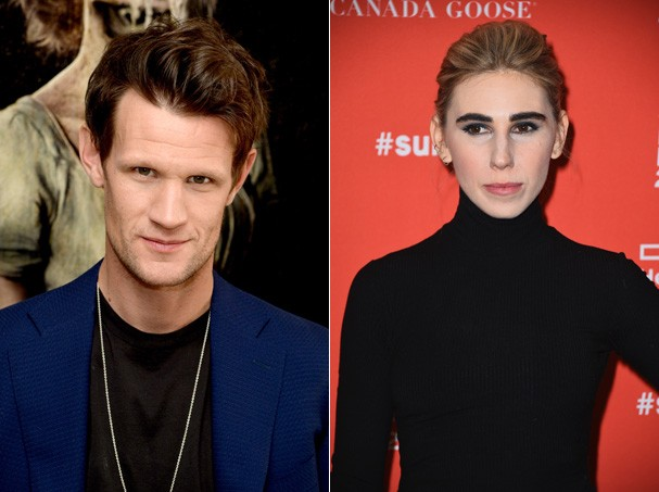 Matt Smith e Zosia Mamet serão Robert Mapplethorpe e Patti Smith (Foto: Getty Images)