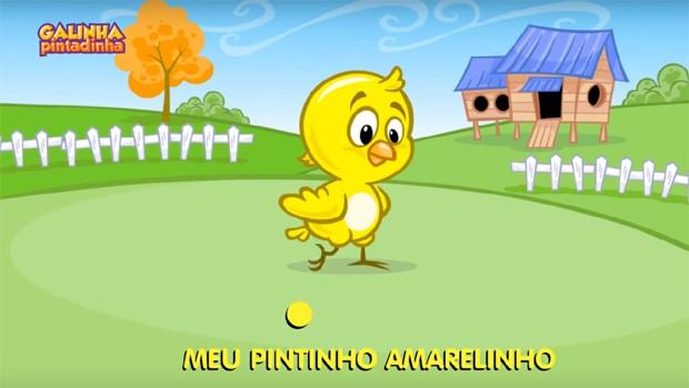 """""""Pintinho amarelinho"""", o vídeo mais visto da Galinha Pintadinha no Youtube (Foto: Reprodução/Galinha Pintadinha/YouTube)"""