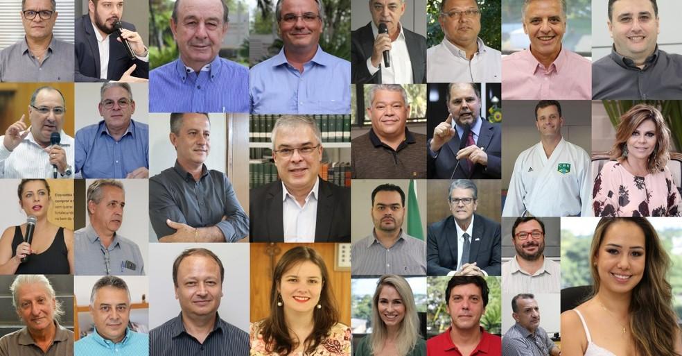 Secretários e gestores de Londrina foram nomeados para o mandato de 2021-2024 — Foto: Emerson Dias/Prefeitura de Londrina