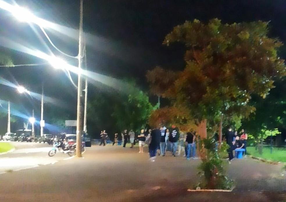 Prefeitura registrou aglomeração no Parque do Rio Jahu — Foto: Prefeitura de Jaú/Divulgação
