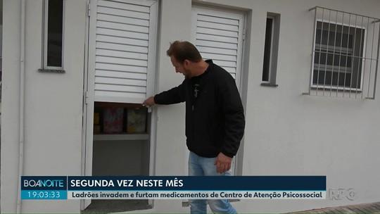Ladrões arrombam CAPS e furtam medicamentos, em Ponta Grossa