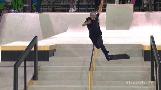 Português sofre queda feia, mas ainda fatura o bronze no Mundial de skate street