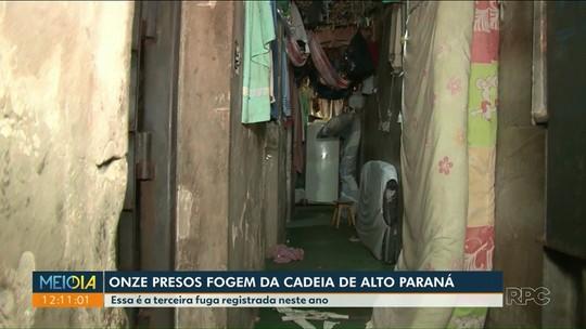 Onze presos fogem da cadeia de Alto Paraná