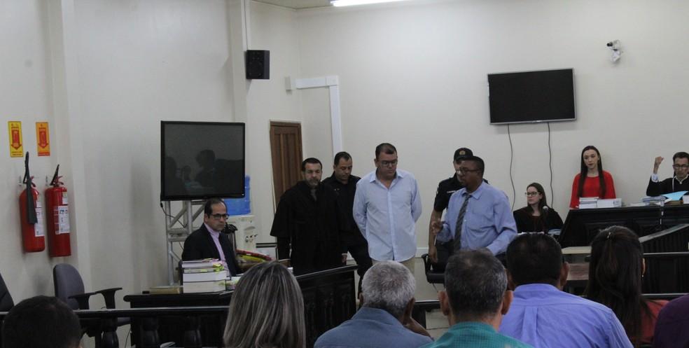 Ex-vereador Clodoaldo Cardoso (PR) no julgamento em Ji-Paraná — Foto: Gedeon Miranda/G1