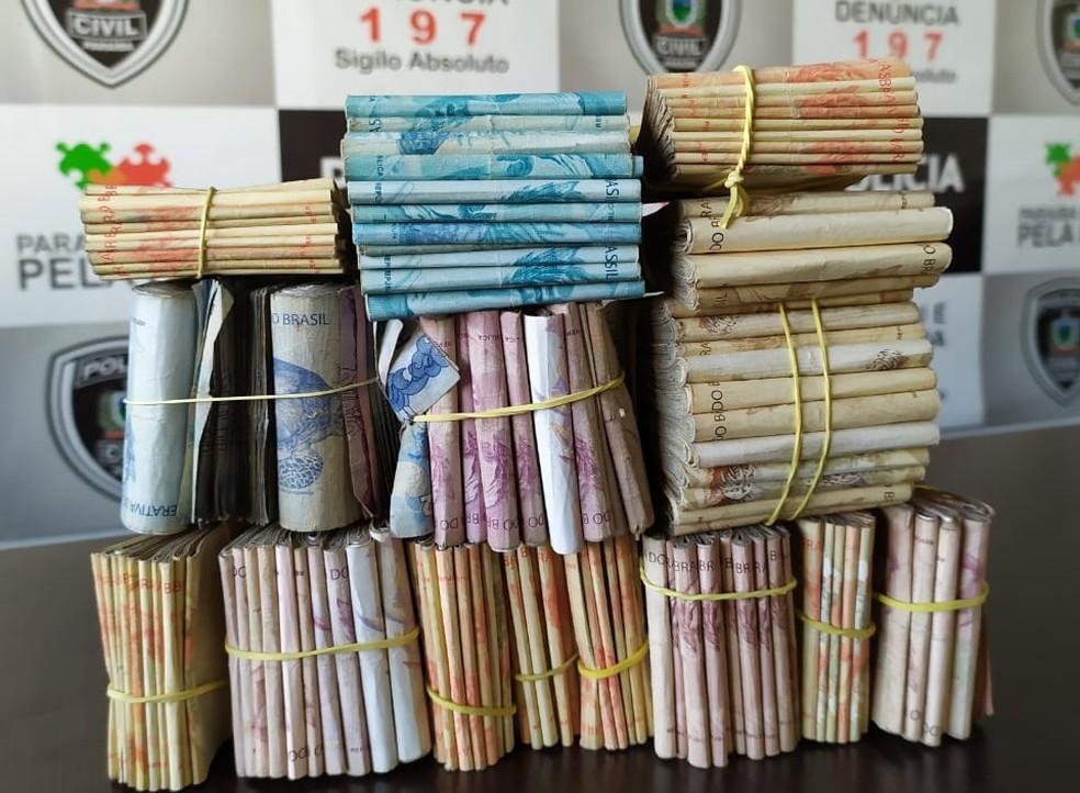 Suspeito de tráfico de drogas é preso com R$ 40 mil, em João Pessoa — Foto: Polícia Civil/ Divulgação