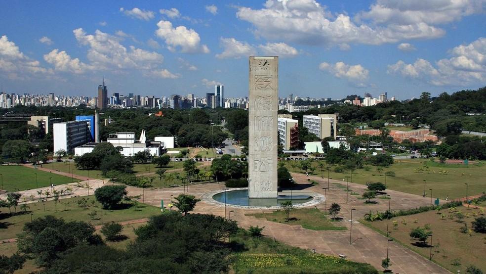 Praça do Relógio, na Cidade Universitária da USP, em São Paulo — Foto: Divulgação/USP
