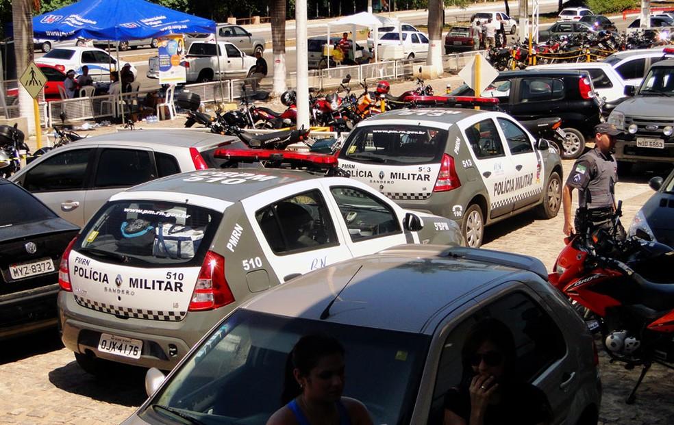 Polícia Militar fez segurança em locais de provas (Foto: Ricardo Araújo/G1)