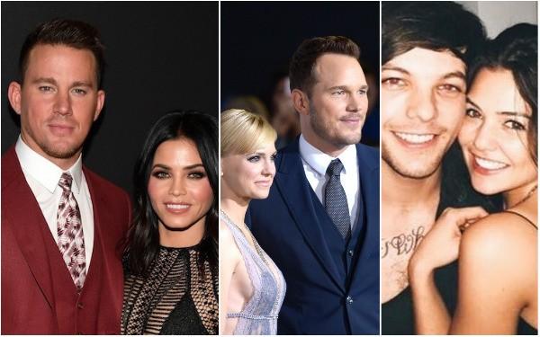 Channing Tatum e Jenna Dewan, Anna Farris e Chris Pratt, Louis Tomlinson e Danielle Campbell (Foto: Getty Images e Redes Sociais)