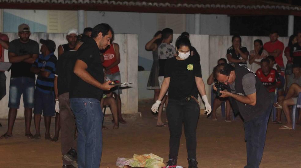 Dois homens foram mortos a tiros entre Baraúna e Mossoró — Foto: Marcelino Net/O Câmera