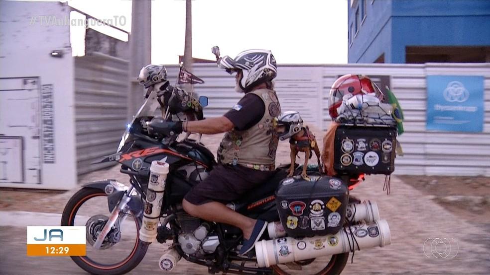 Turma passa por Palmas pela primeira vez — Foto: Reprodução/TV Anhanguera