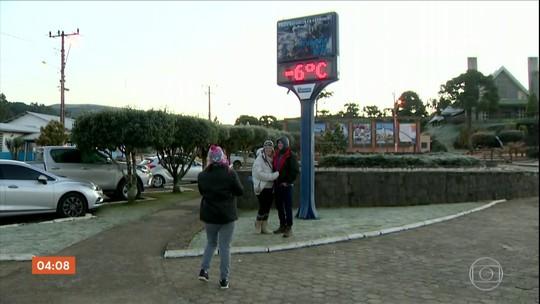 Serra Catarinense registra temperaturas negativas no fim de semana