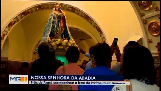 Devotos celebram o Dia de Nossa Senhora da Abadia em cidades do Centro-Oeste de MG