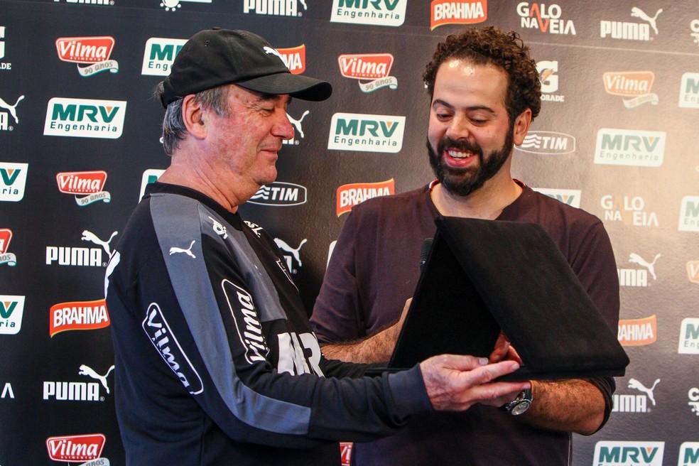 Levir Culpi foi o primeiro técnico da gestão de Daniel Nepomuceno no Atlético-MG — Foto: Bruno Cantini