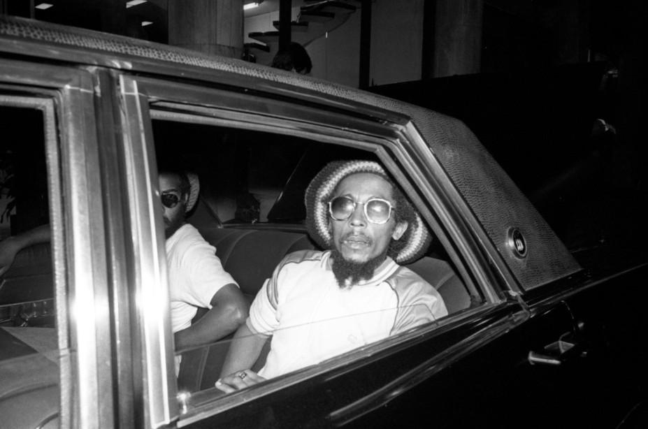 Bob Marley no carro que o levaria até o Copacabana Palace