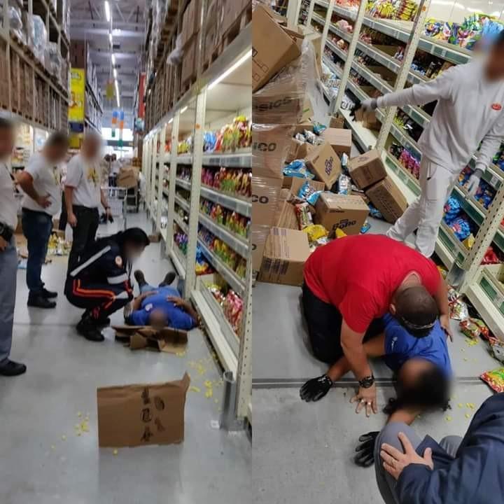 Estrutura cai de prateleira e funcionária de supermercado fica ferida em SP - Notícias - Plantão Diário