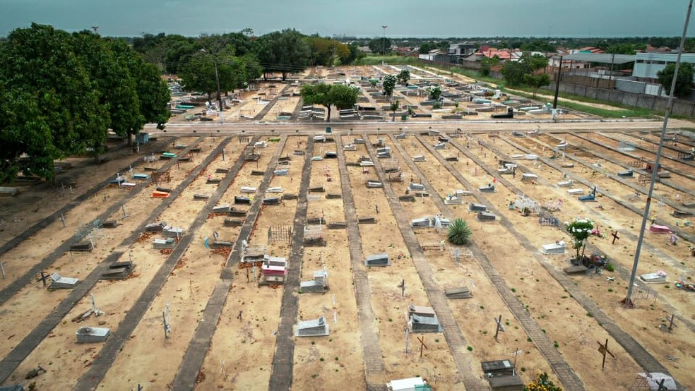 Cemitério Campo da Saudade, em Boa Vista — Foto: Laudinei Sampaio/Rede Amazônica