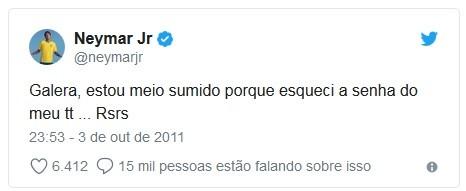 Neymar resume em um tuíte o signo de peixes (Foto: Reprodução / Twitter )