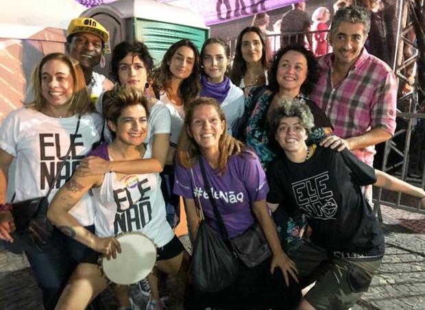 Artistas em ato contra Bolsonaro no Rio (Foto: Reprodução/Instagram)