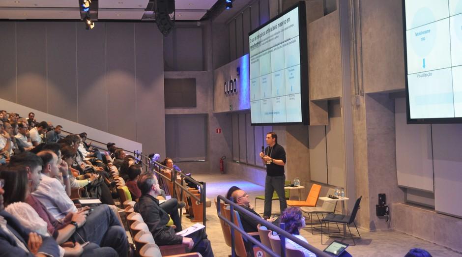 Alexandre Villela, diretor-geral da Qualcomm Ventures, durante o Congresso de Investimento Anjo 2019 (Foto: Divulgação)