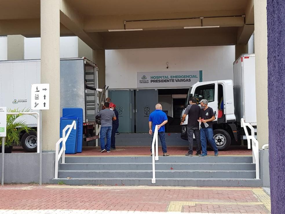 Hospital de campanha do PV começa a ser desativado  — Foto: José Leomar/SVM