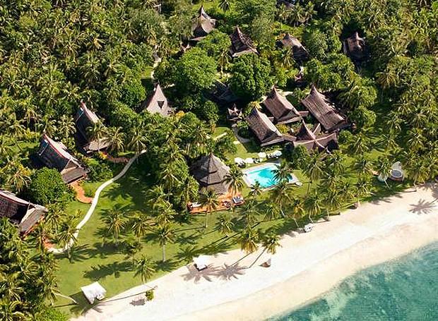 Visão geral da Dedon Island, nas Filipinas (Foto: Divulgação)